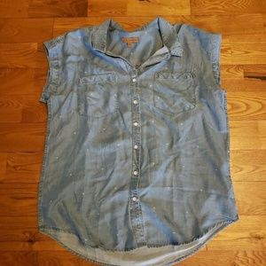 NWT Women's Jachs Girlfriend Short Sleeve Palm